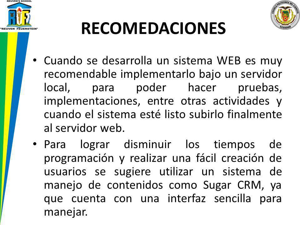 Cuando se desarrolla un sistema WEB es muy recomendable implementarlo bajo un servidor local, para poder hacer pruebas, implementaciones, entre otras