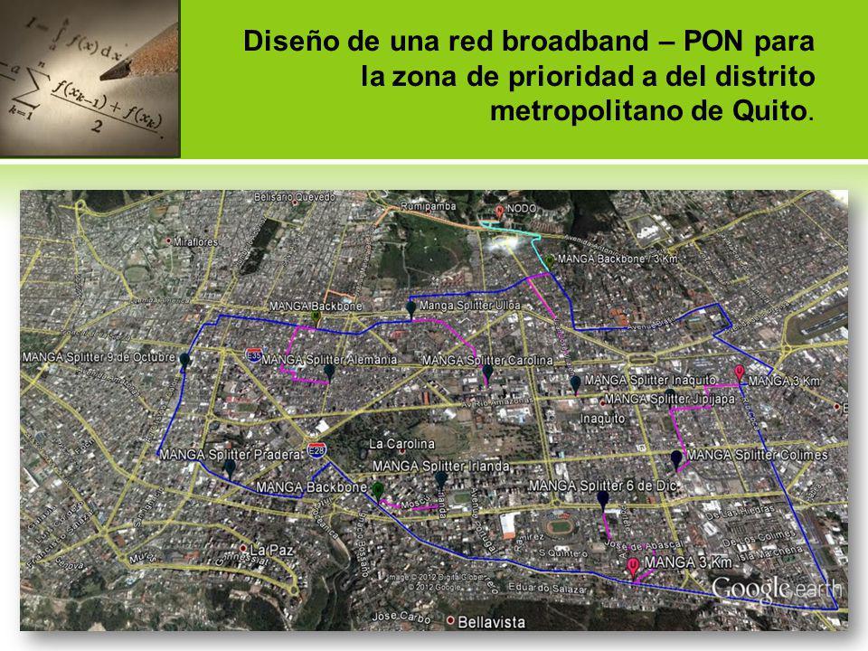 Diseño de una red broadband – PON para la zona de prioridad a del distrito metropolitano de Quito.