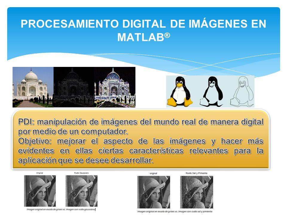 PROCESAMIENTO DIGITAL DE IMÁGENES EN MATLAB ®