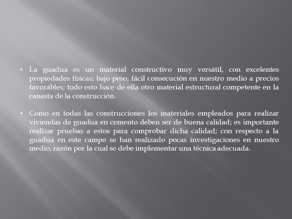 Actualmente, el Ecuador no cuenta con la suficiente información técnica para iniciar con la construcción empleando guadua, a gran escala.