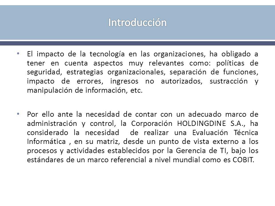 COBIT COSO (Committee of Sponsoring Organizations): - Está enfocado a toda la organización, mientras que COBIT se centra en el entorno IT.