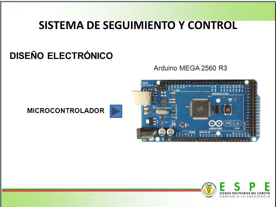SISTEMA DE SEGUIMIENTO Y CONTROL DISEÑO ELECTRÓNICO MICROCONTROLADOR Arduino MEGA 2560 R3