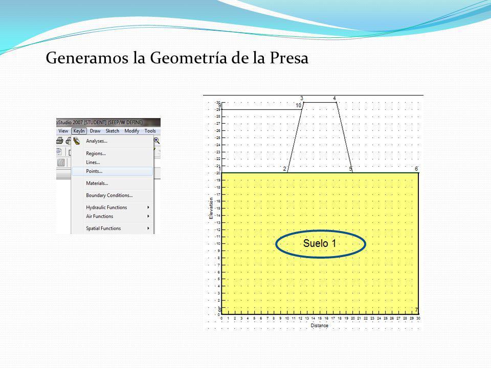 Generamos la Geometría de la Presa