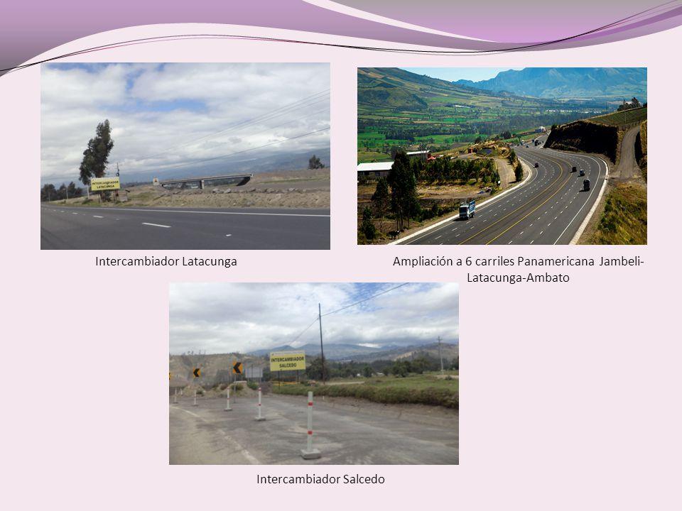 Intercambiador LatacungaAmpliación a 6 carriles Panamericana Jambeli- Latacunga-Ambato Intercambiador Salcedo