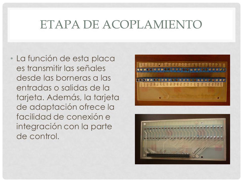 ETAPA DE CONTROL DISEÑO DE PLACA Para la implementación del sistema de seguridad y la monitorización, se debe realizar un acoplamiento entre las salidas de la tarjeta que son a 3,3V y la activación de los actuadores.