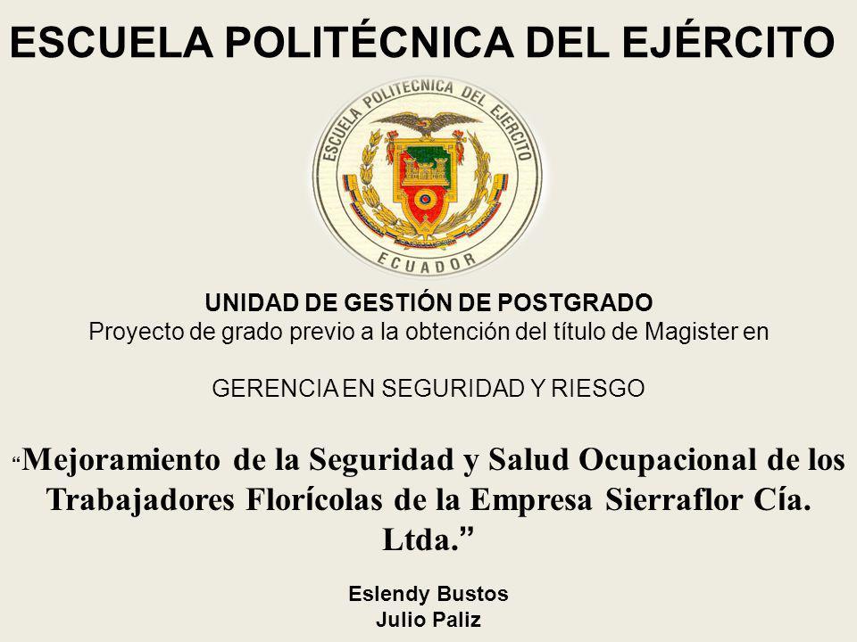 UNIDAD DE GESTIÓN DE POSTGRADO Proyecto de grado previo a la obtención del título de Magister en GERENCIA EN SEGURIDAD Y RIESGO Mejoramiento de la Seg