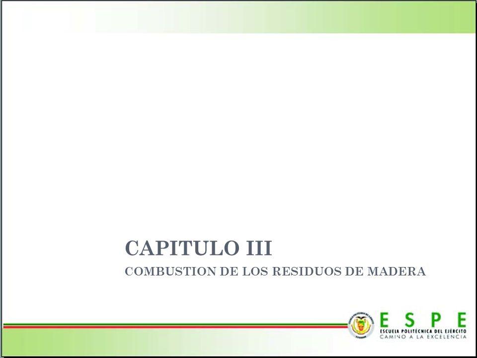 CAPITULO III COMBUSTION DE LOS RESIDUOS DE MADERA