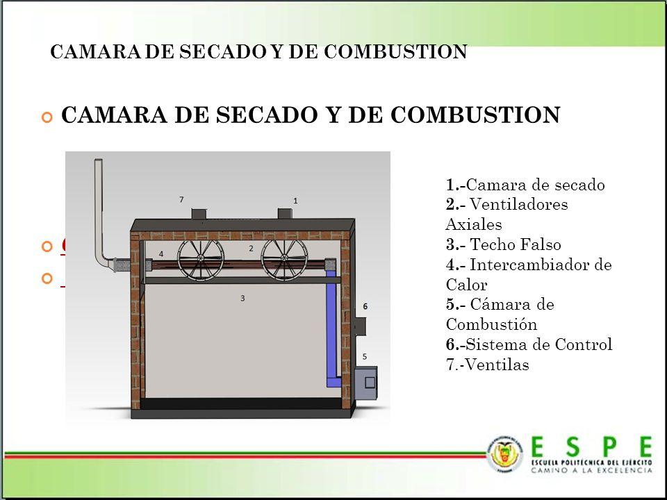 CAMARA DE SECADO Y DE COMBUSTION COLOCAR IMAGEN DE LA CAMARA DE SECADO 1.- Camara de secado 2.- Ventiladores Axiales 3.- Techo Falso 4.- Intercambiado