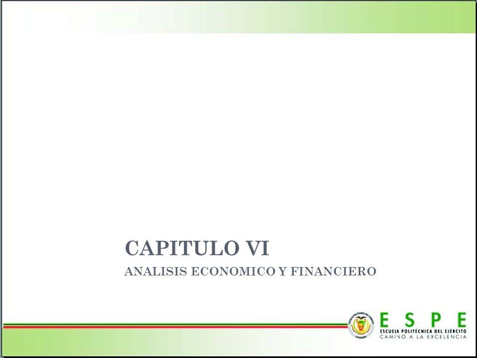 CAPITULO VI ANALISIS ECONOMICO Y FINANCIERO