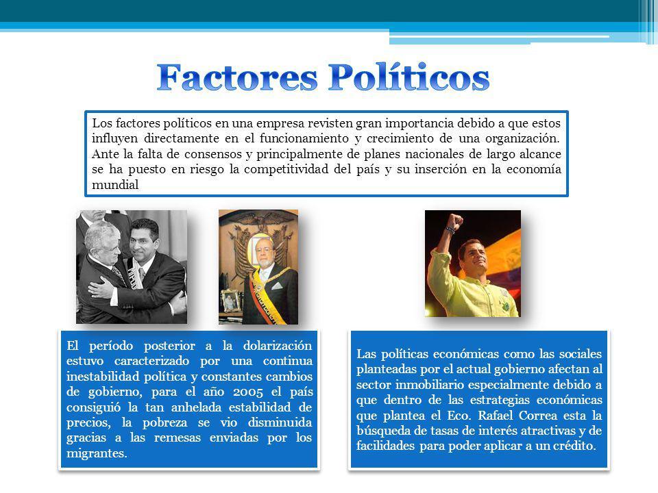 Los factores políticos en una empresa revisten gran importancia debido a que estos influyen directamente en el funcionamiento y crecimiento de una organización.