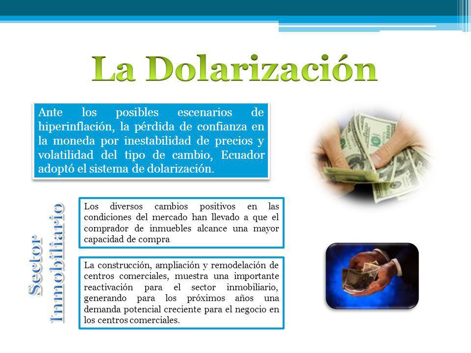 Ante los posibles escenarios de hiperinflación, la pérdida de confianza en la moneda por inestabilidad de precios y volatilidad del tipo de cambio, Ecuador adoptó el sistema de dolarización.