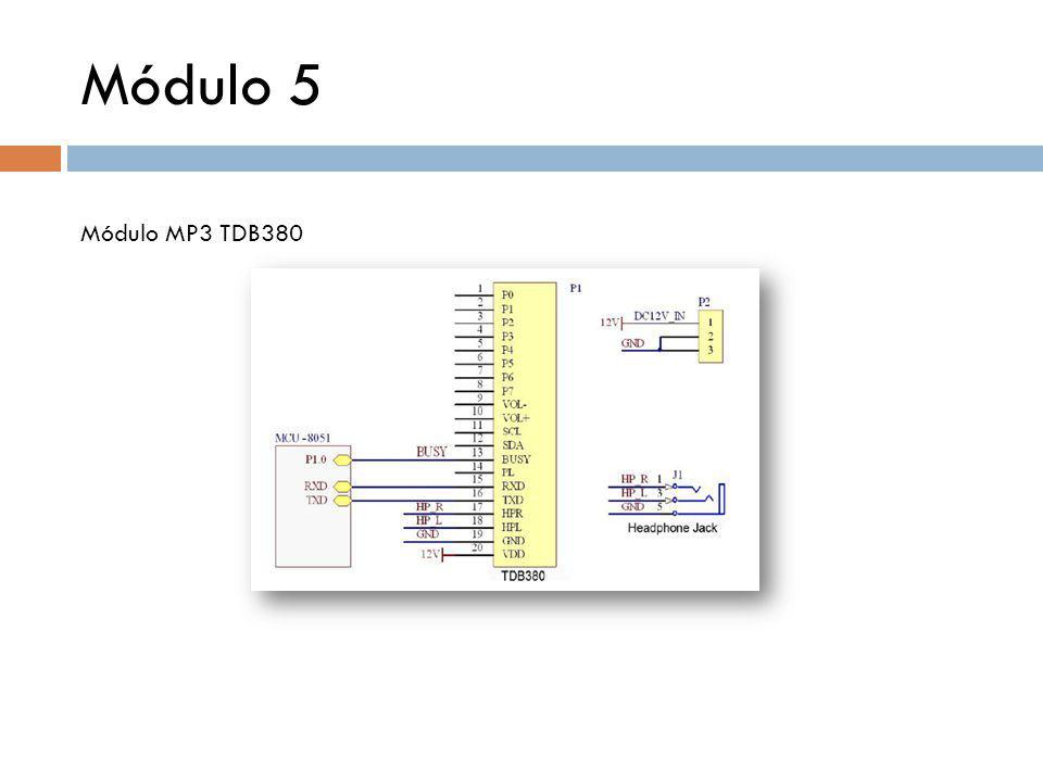 Módulo 5 Módulo MP3 TDB380