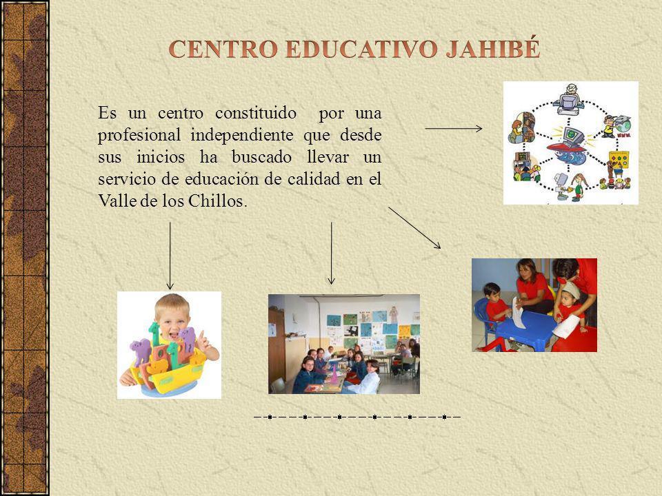 Es un centro constituido por una profesional independiente que desde sus inicios ha buscado llevar un servicio de educación de calidad en el Valle de los Chillos.