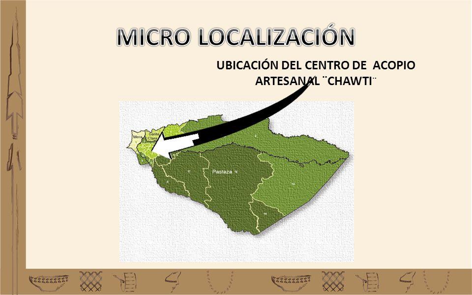 UBICACIÓN DEL CENTRO DE ACOPIO ARTESANAL ¨CHAWTI ¨