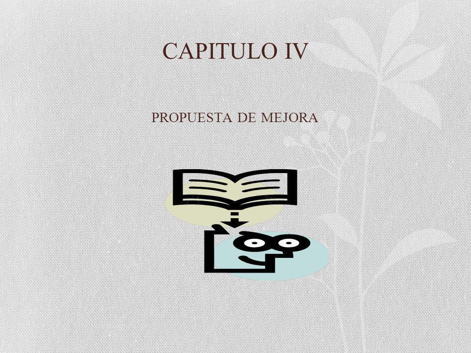 CAPITULO IV PROPUESTA DE MEJORA