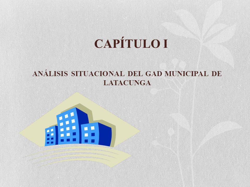 CAPÍTULO I ANÁLISIS SITUACIONAL DEL GAD MUNICIPAL DE LATACUNGA