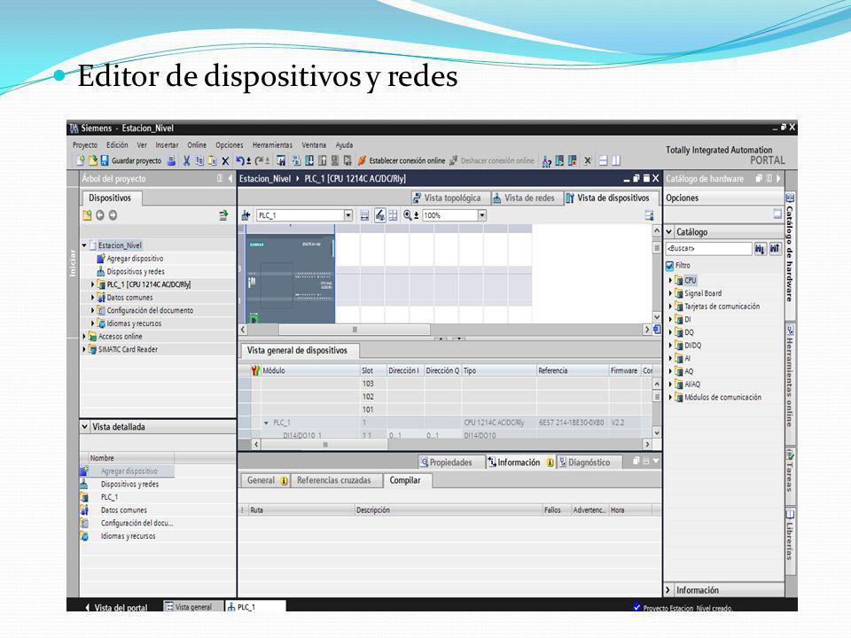 Editor de dispositivos y redes
