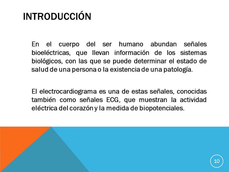 En el cuerpo del ser humano abundan señales bioeléctricas, que llevan información de los sistemas biológicos, con las que se puede determinar el estado de salud de una persona o la existencia de una patología.