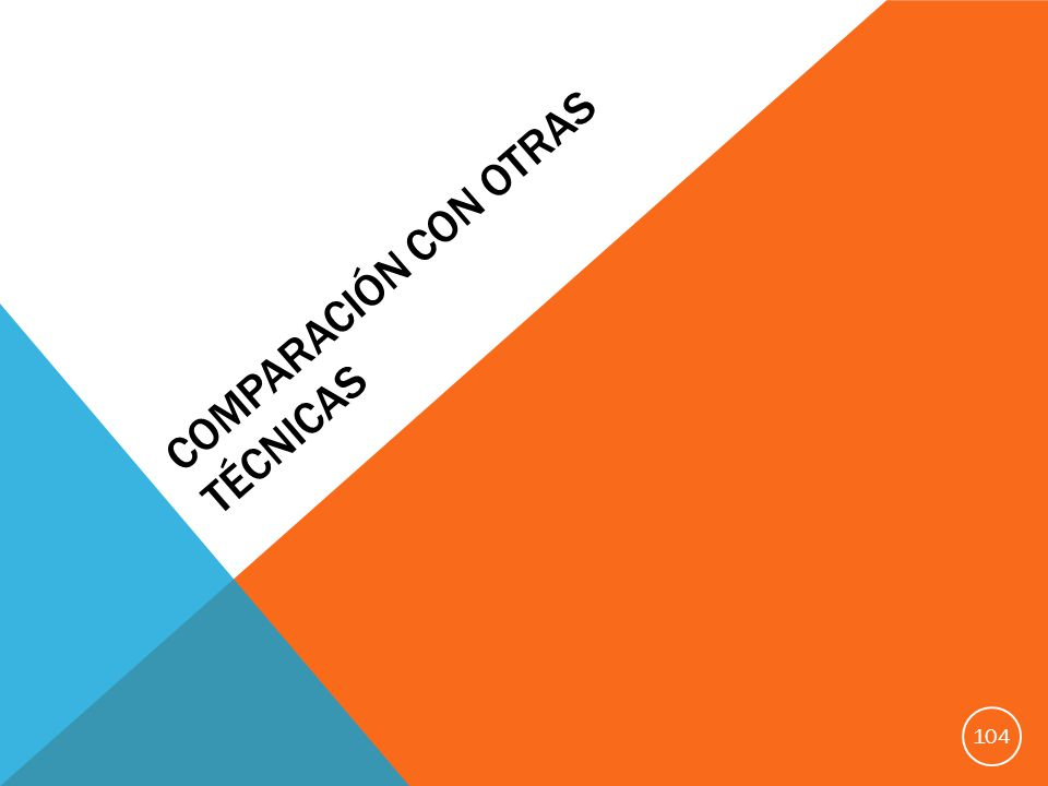 COMPARACIÓN CON OTRAS TÉCNICAS 104