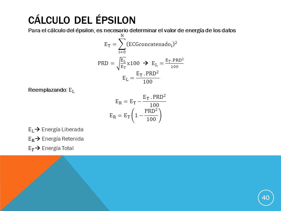 CÁLCULO DEL ÉPSILON 40