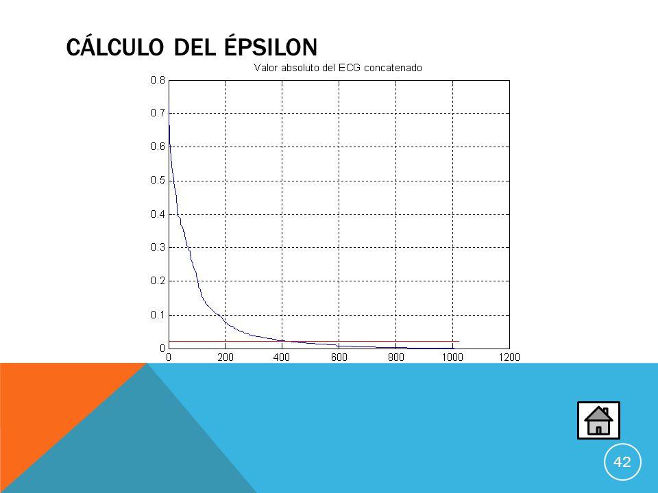 CÁLCULO DEL ÉPSILON 42
