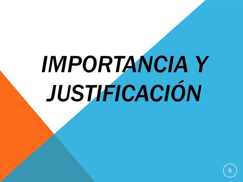 IMPORTANCIA Y JUSTIFICACIÓN 6