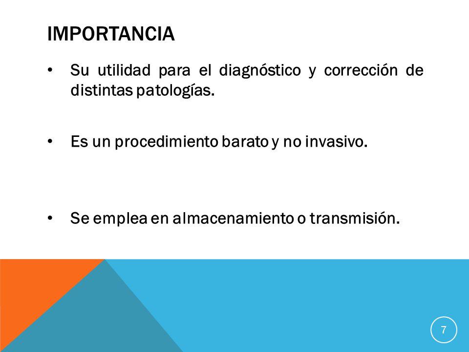 IMPORTANCIA Su utilidad para el diagnóstico y corrección de distintas patologías.
