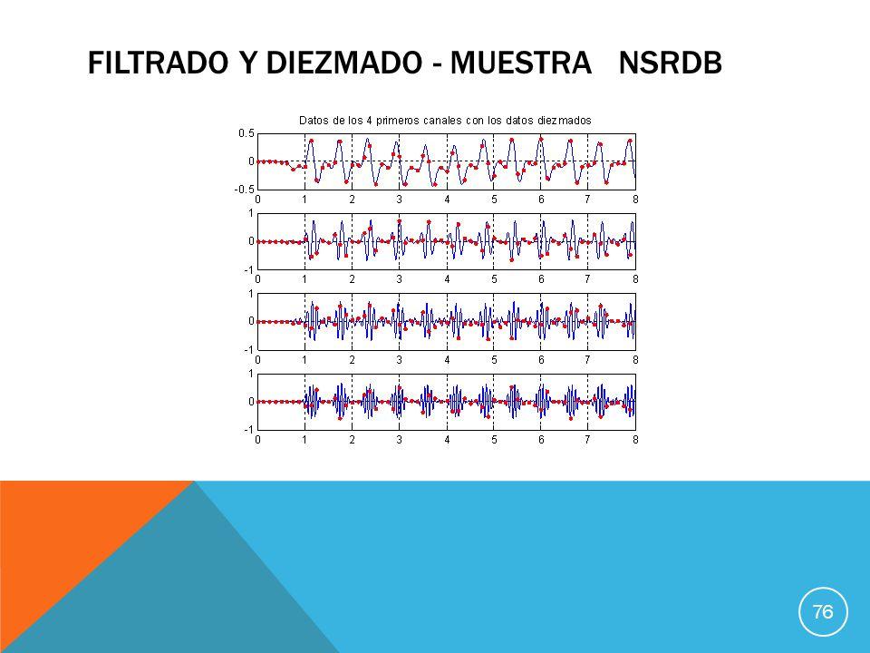 FILTRADO Y DIEZMADO - MUESTRA NSRDB 76