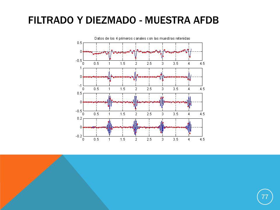 FILTRADO Y DIEZMADO - MUESTRA AFDB 77