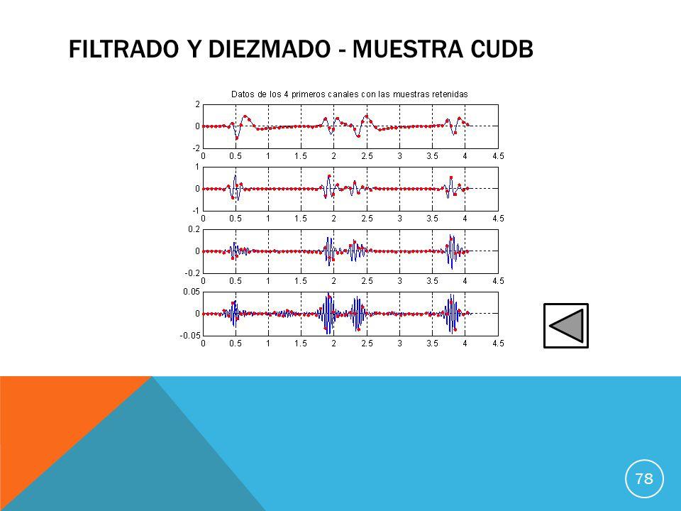 FILTRADO Y DIEZMADO - MUESTRA CUDB 78