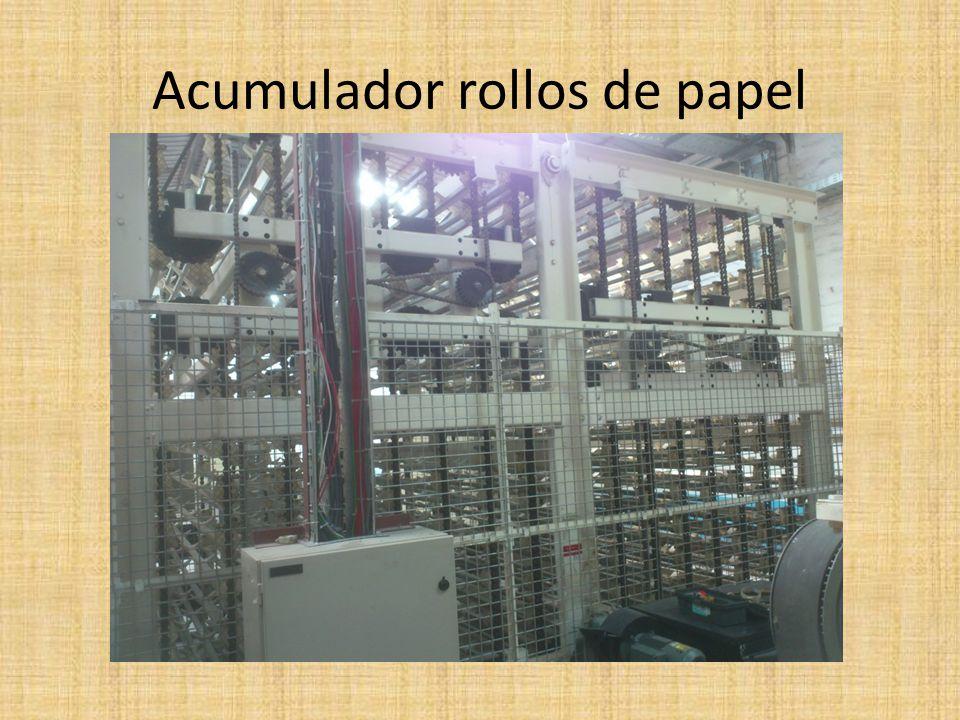 Acumulador rollos de papel