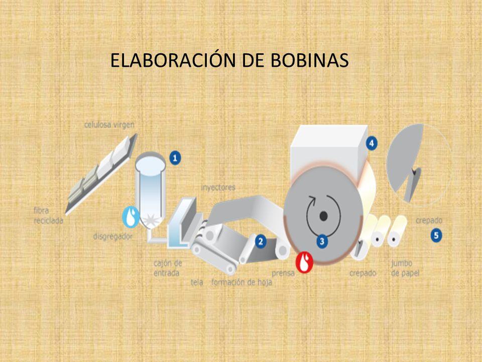 El resultado del proceso de fabricación es un rollo de papel de grandes dimensiones jumbo, cuyo diámetro es de 1,30 a 2,5 m.
