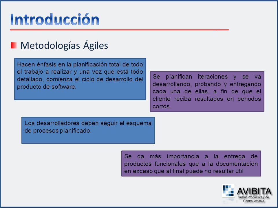Metodologías Ágiles Hacen énfasis en la planificación total de todo el trabajo a realizar y una vez que está todo detallado, comienza el ciclo de desa