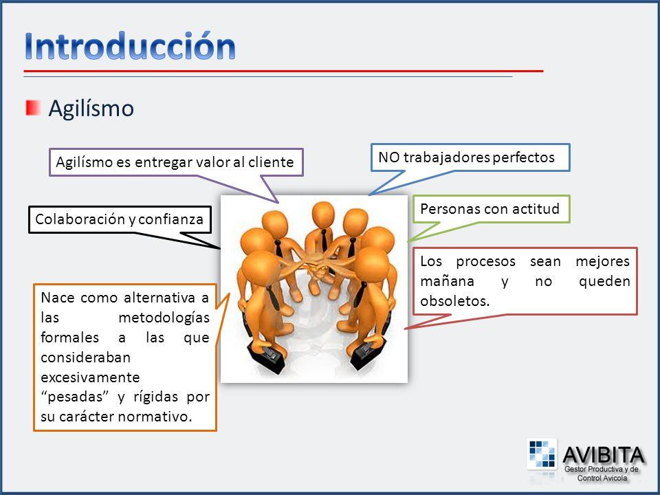 Metodologías Ágiles Colección de valores, principios y prácticas para modelar procesos, que pueden ser aplicados de manera simple y ligera.