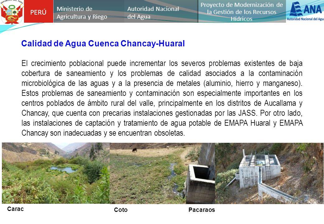 PERÚ Autoridad Nacional del Agua Proyecto de Modernización de la Gestión de los Recursos Hídricos Ministerio de Agricultura y Riego El crecimiento pob