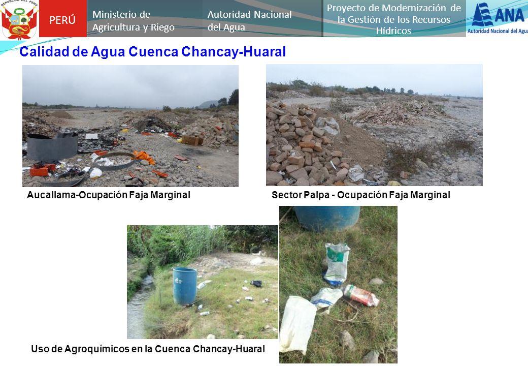 PERÚ Autoridad Nacional del Agua Proyecto de Modernización de la Gestión de los Recursos Hídricos Ministerio de Agricultura y Riego Calidad de Agua Cu