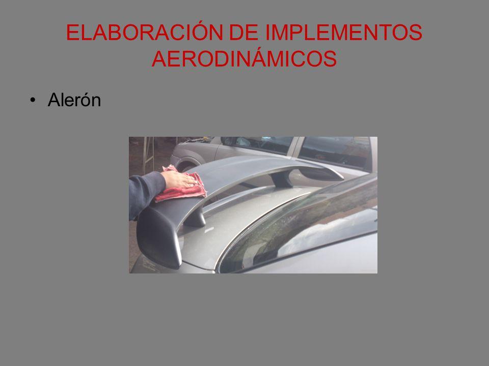 ELABORACIÓN DE IMPLEMENTOS AERODINÁMICOS Alerón