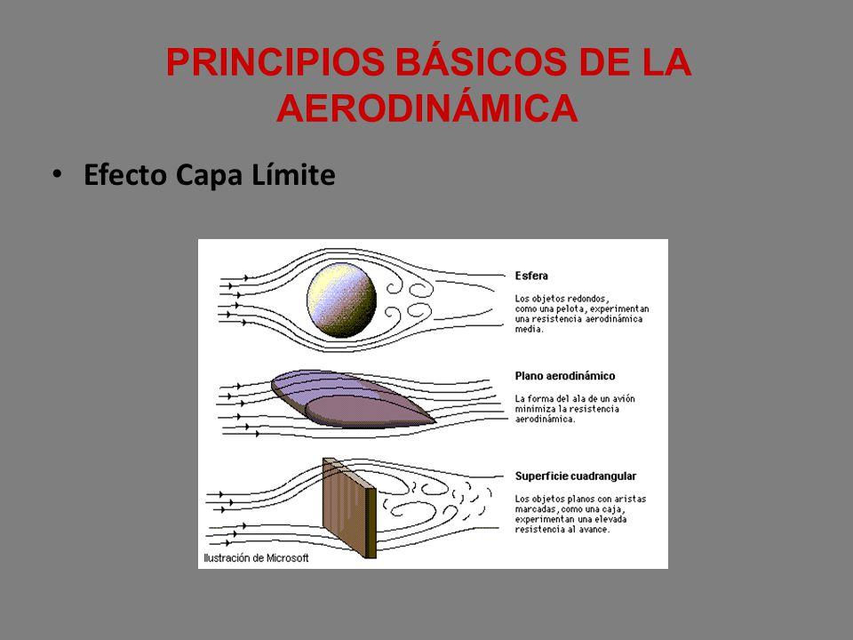 PRINCIPIOS BÁSICOS DE LA AERODINÁMICA Efecto Capa Límite