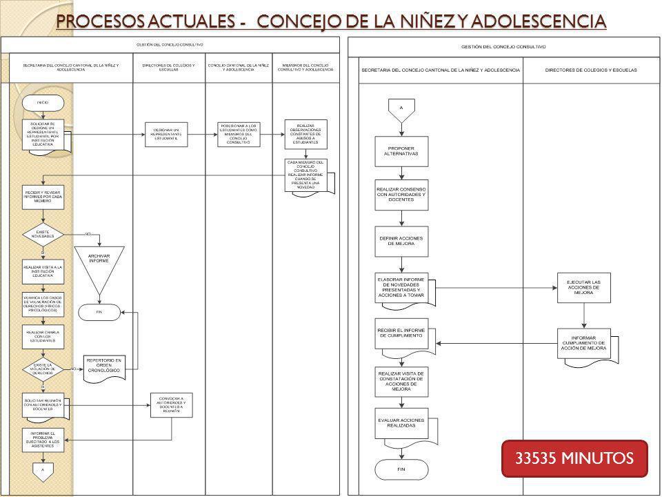 PROCESOS ACTUALES - CONCEJO DE LA NIÑEZ Y ADOLESCENCIA 33535 MINUTOS