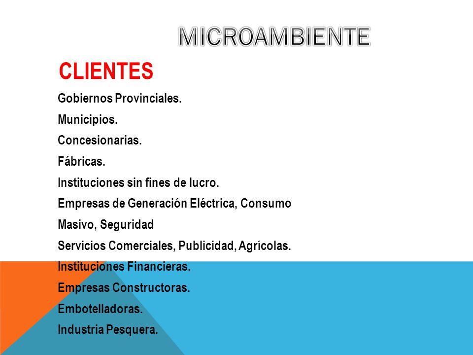 Gobiernos Provinciales.Municipios. Concesionarias.