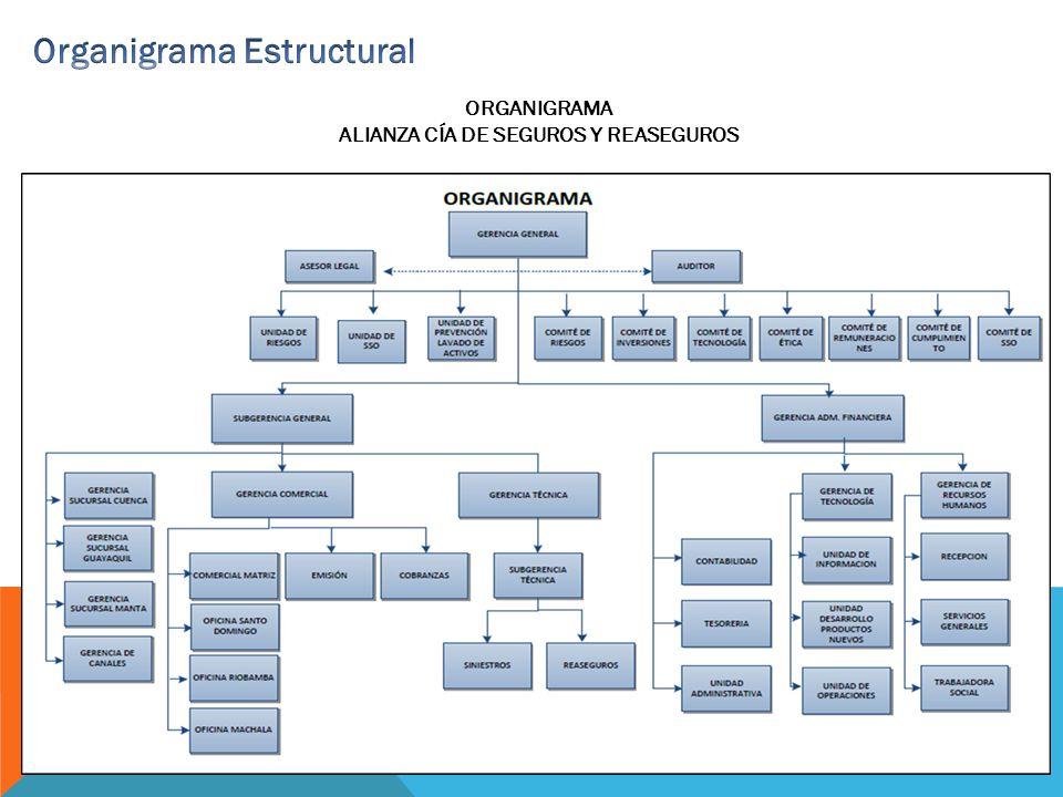 ORGANIGRAMA ALIANZA CÍA DE SEGUROS Y REASEGUROS
