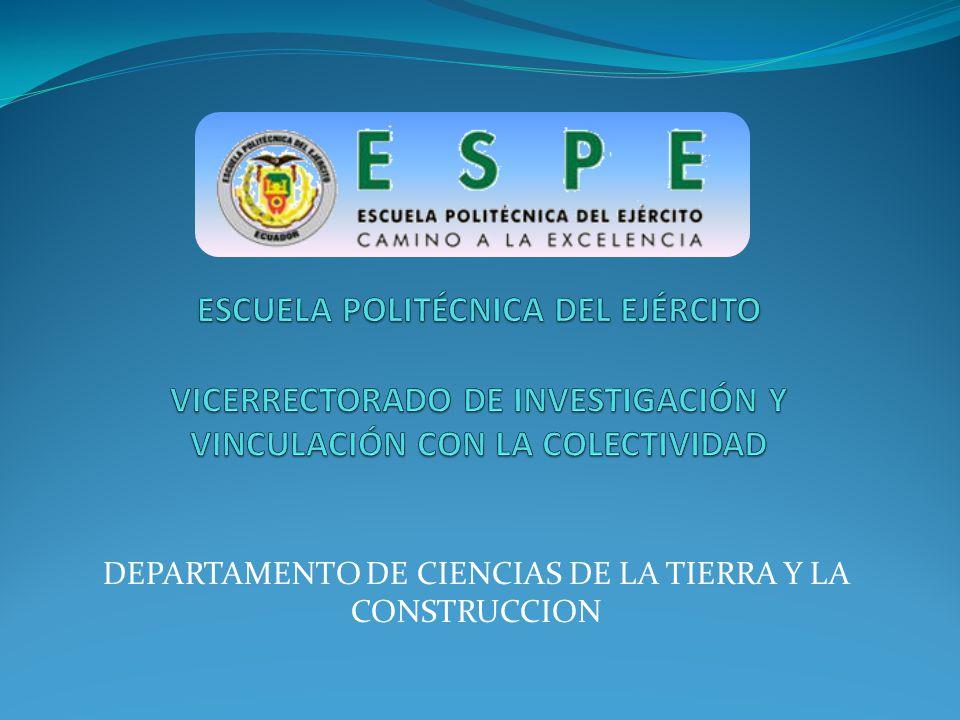 DEPARTAMENTO DE CIENCIAS DE LA TIERRA Y LA CONSTRUCCION