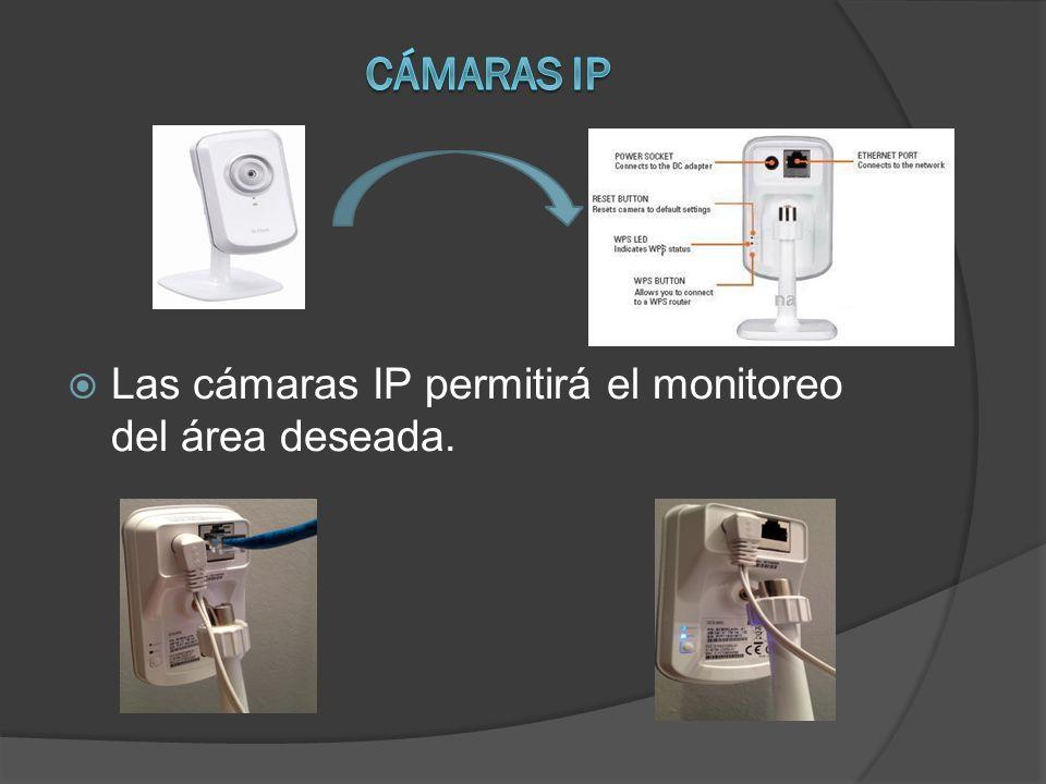 Las cámaras IP permitirá el monitoreo del área deseada.