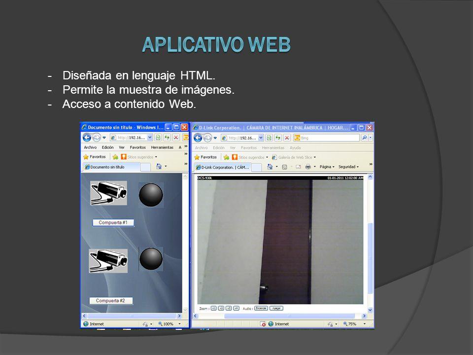 -Diseñada en lenguaje HTML. -Permite la muestra de imágenes. -Acceso a contenido Web.