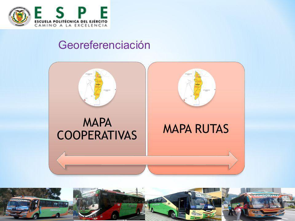 MAPA COOPERATIVAS MAPA RUTAS Georeferenciación