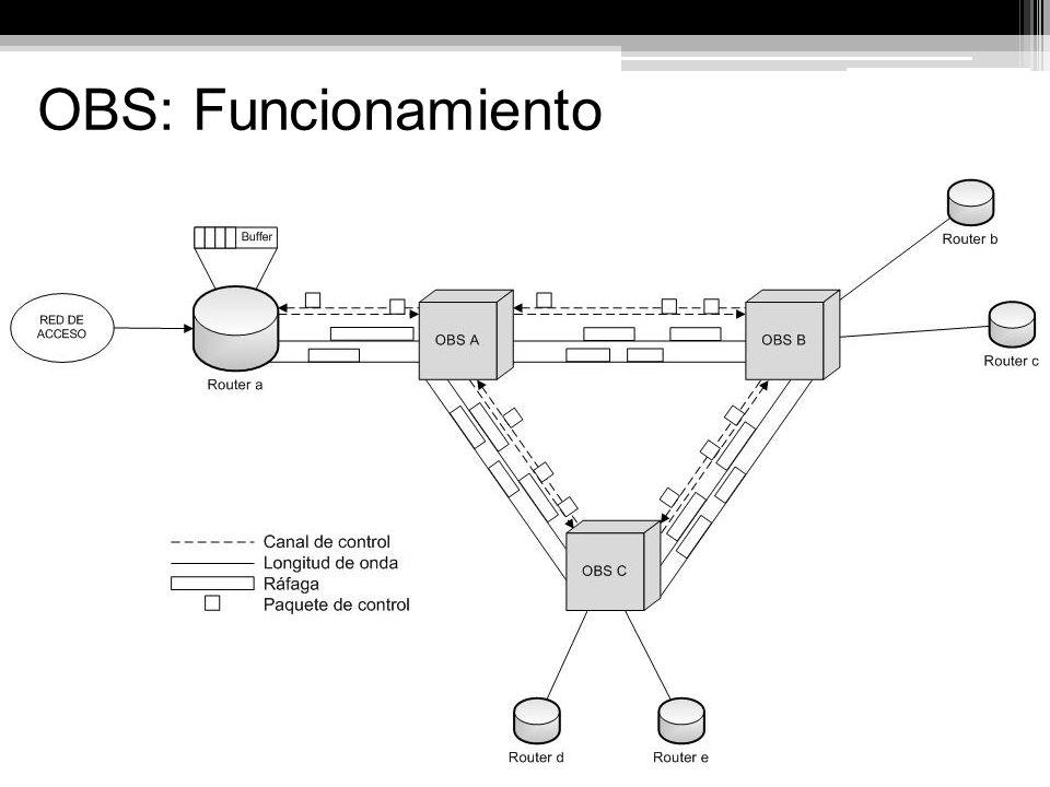 Nodos de Borde Funciones: Encapsulamiento de paquetes/celdas en ráfagas.