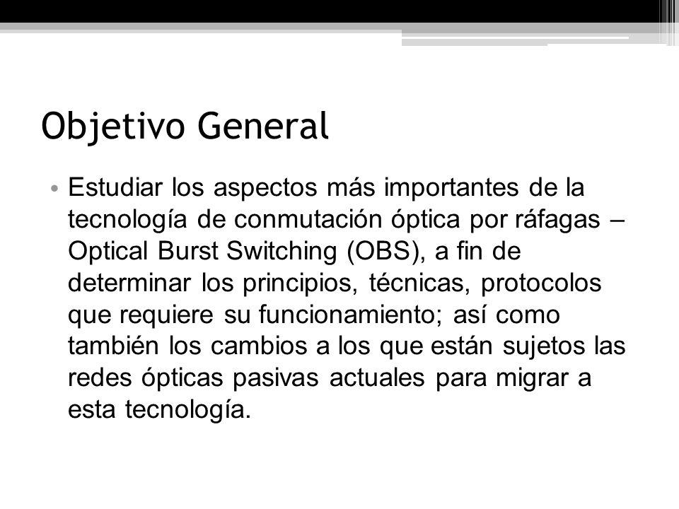 Objetivos Específicos Definir la arquitectura de una red OBS.