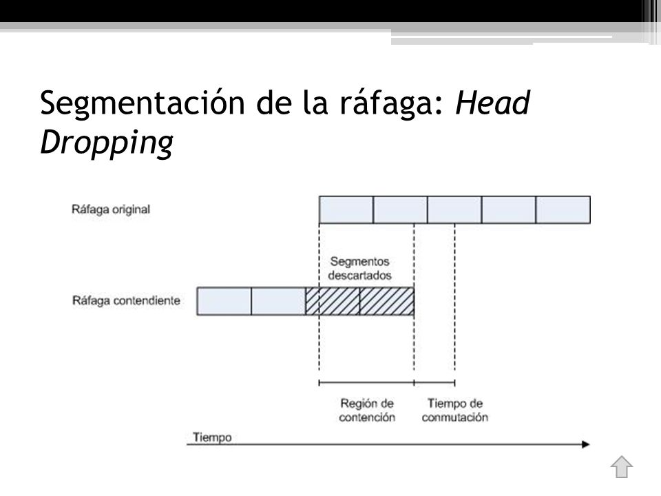 Segmentación de la ráfaga: Head Dropping