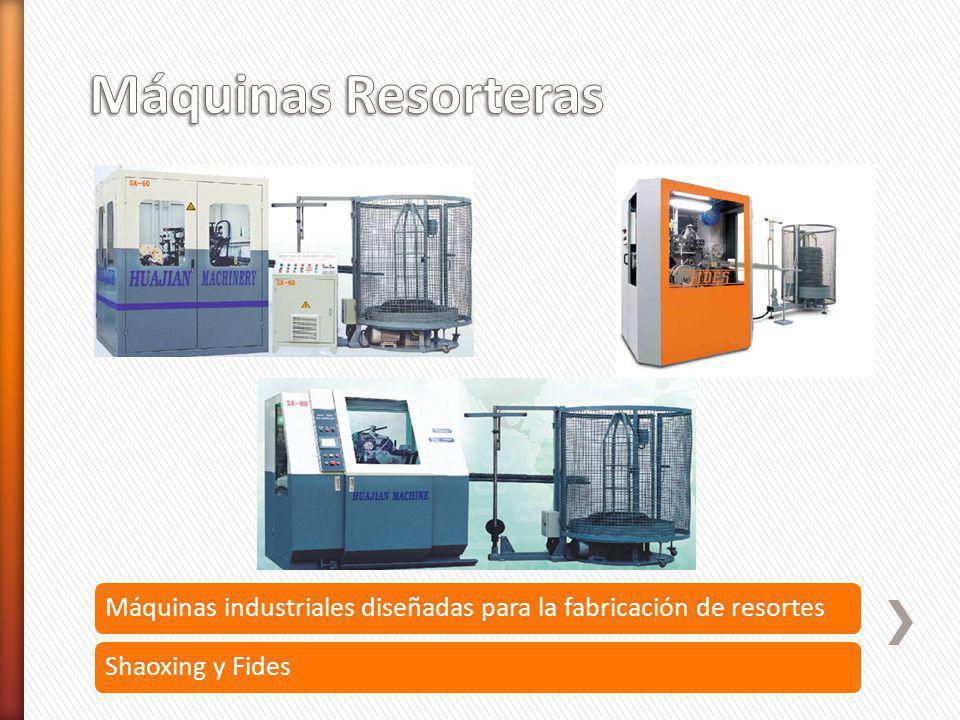 Máquinas industriales diseñadas para la fabricación de resortesShaoxing y Fides