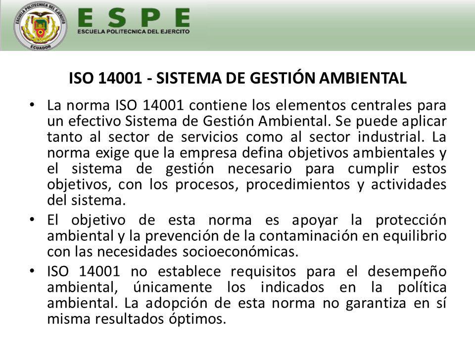 OHSAS 18001:2010- SISTEMA DE GESTIÓN DE LA SEGURIDAD Y SALUD OCUPACIONAL OHSAS 18001 es la especificación de evaluación reconocida internacionalmente para sistemas de gestión de la salud y la seguridad en el trabajo.